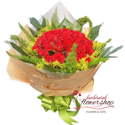 Send love flowers to Hochiminh city