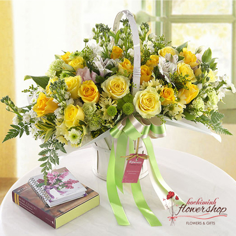 Yellow roses delivery same day Hochiminh