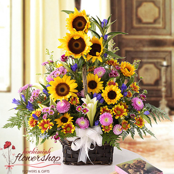 Sunflower for birthday in Hochiminh City