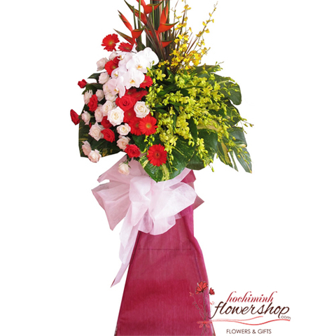 Congratulation flowers for opening in Hochiminh city