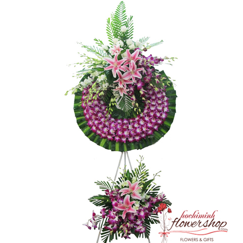 Sympathy flowers free delivery District 1 HCM