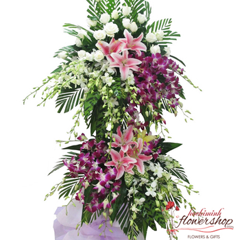 Funeral flowers delivery Tanbinh District HCMC