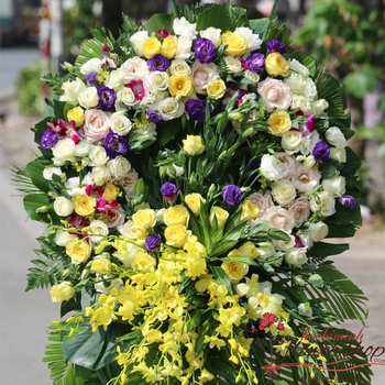 Hochiminh sympathy and funeral flowers delivery