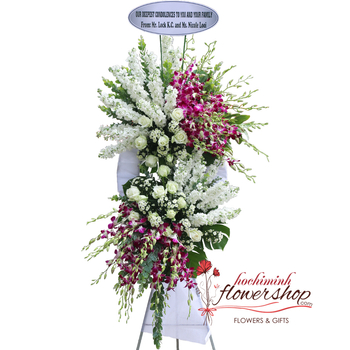 Sympathy flowers message for funeral
