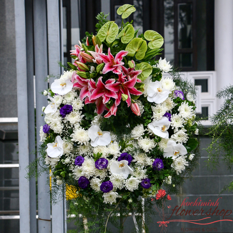 Funeral flowers free delivery district 1 HCM
