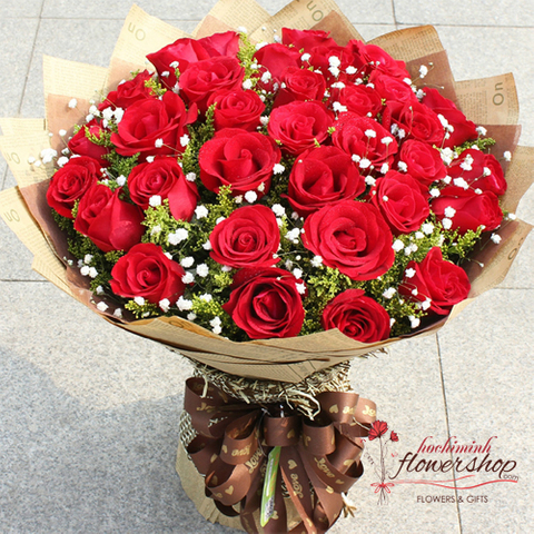 Love flowers for sending to HCM Vietnam