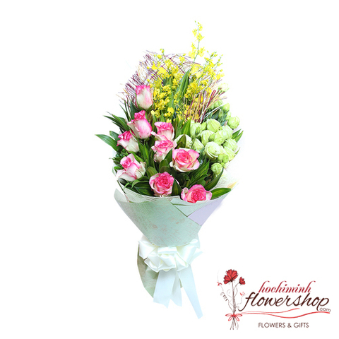 Hochiminh love flowers bouquet for wife