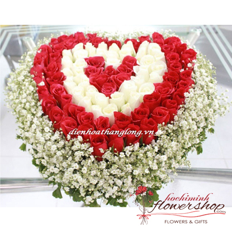 99 roses in heart shape free shipping