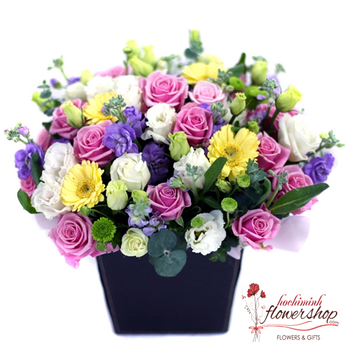 Mixed flower arrangement delivery same day