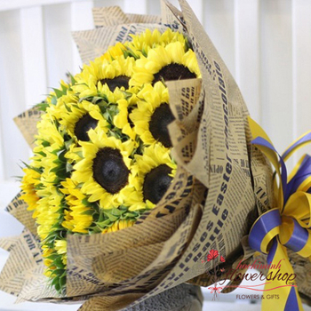 Cheerfully sunflowers