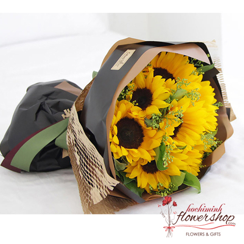 Sunflowers bouquet for girlfriend