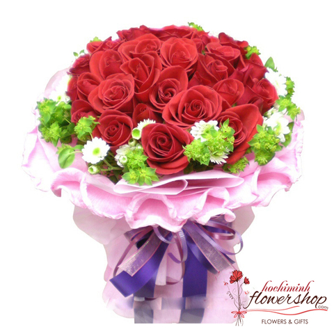 Red rose bouquet very cheap in Hochiminh