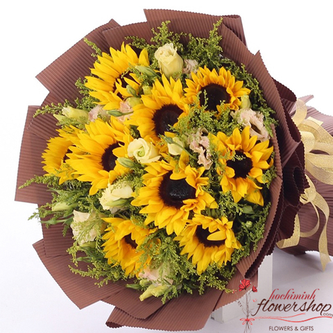 Sunflower bouquet deliver to Hochiminh