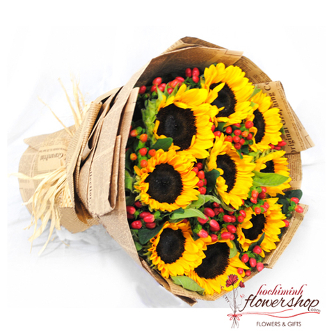 Send sunflower bouquet to Hochiminh online
