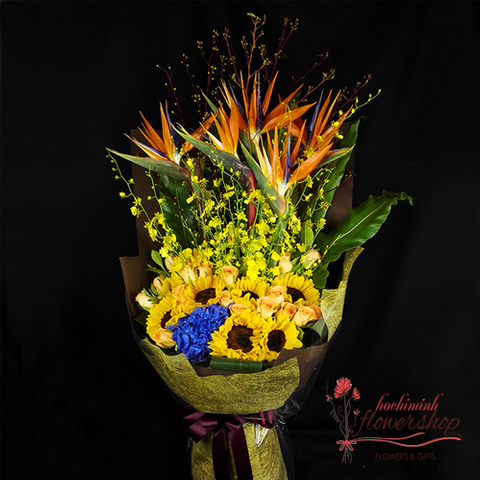Flowers bouquet for birthday father