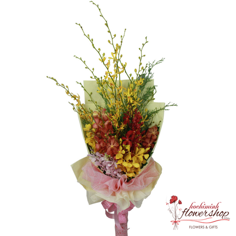 Hochiminh orchid flower bouquet online order