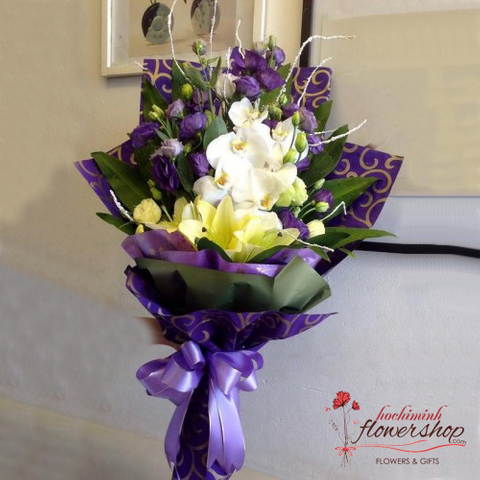 Order orchid bouquet in Hochiminh flower online
