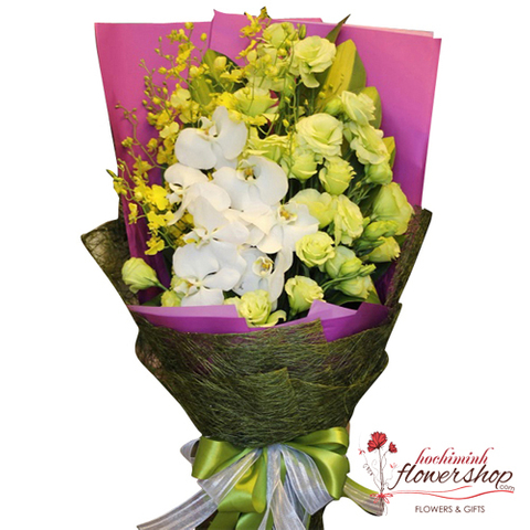 Send love to Hochiminh with orchid bouquet