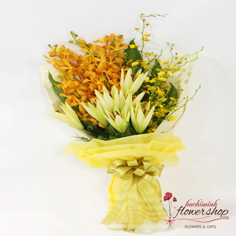 Orchid flower bouquets for congratulations grand opening