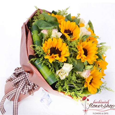 Sunflower bouquet for mother's day in HCM