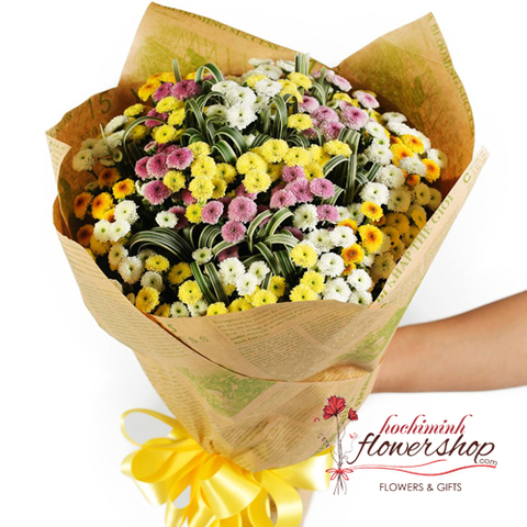 Calimero daisy bouquet in Hochiminh city