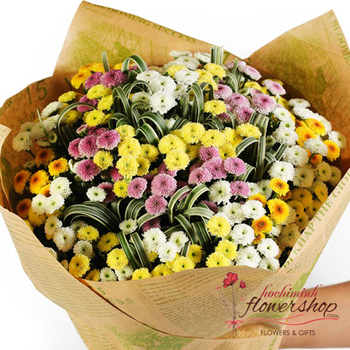 Calimero daisy bouquet in HCM city delivery