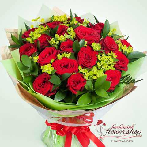 send red rose bouquet to my love