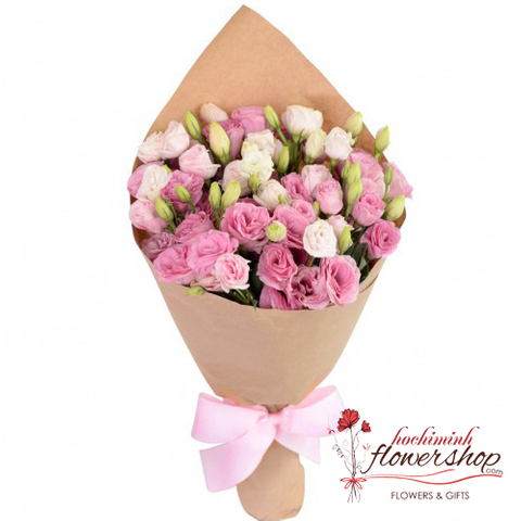 Pink lisianthus flowers delivery in hochiminh city