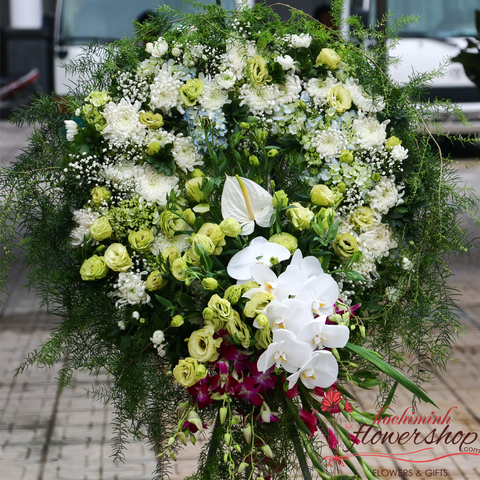 Order funeral flowers to Hochiminh online