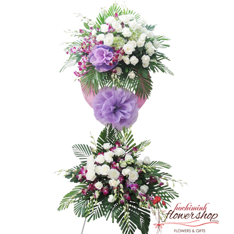 Sympathy flowers free delivery in HCM city
