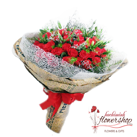 Bouquet of lovely red roses online