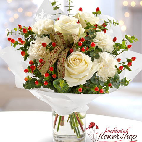 White Christmas bouquet in Hochiminh VN