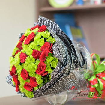 Xmas flowers bouquet free delivery