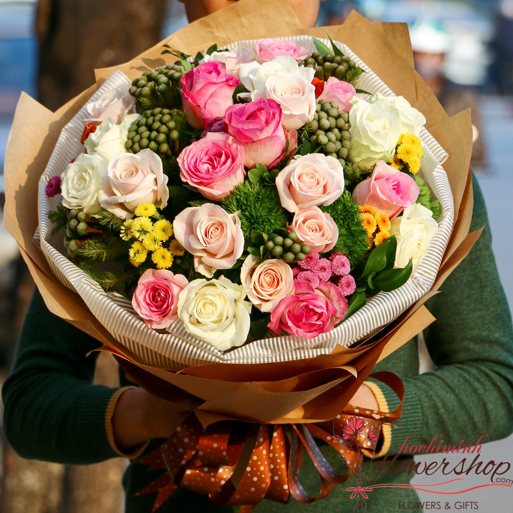 Bouquet of roses for delivery to Hochiminh