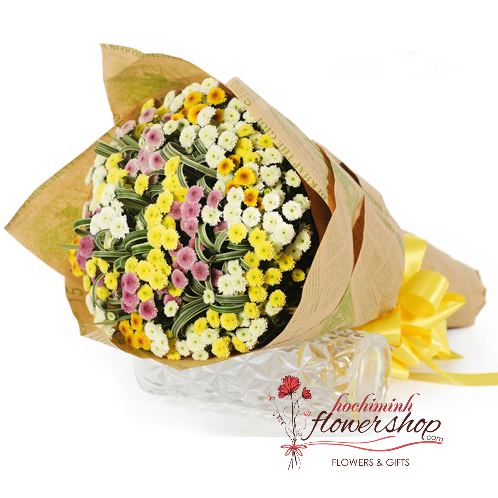 Calimero daisy bouquet in Hochiminh city same day delivery