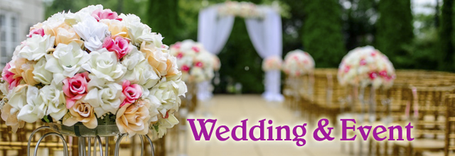 Wedding and event flowers in Hochiminh city