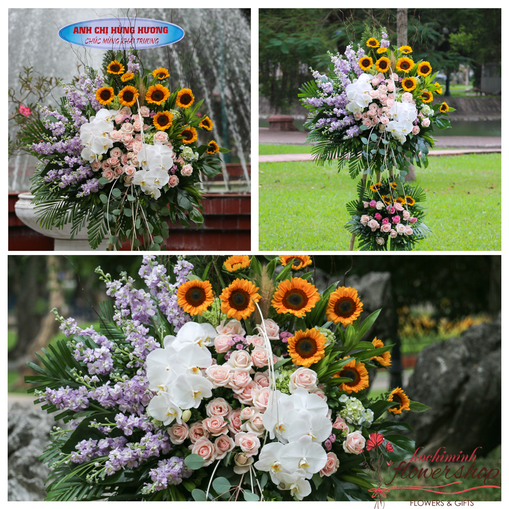 Congratulations flowers online in HCM city