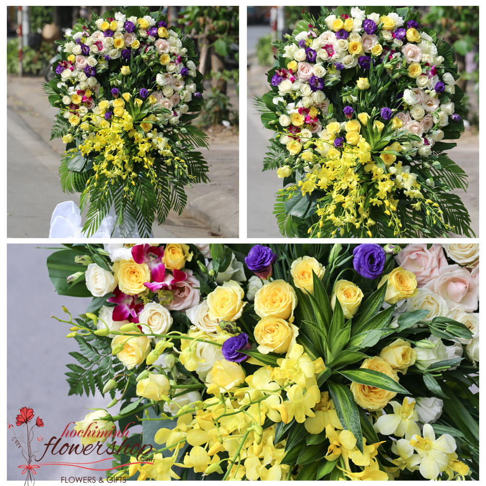 Hochiminh funeral and sympathy flower delivery