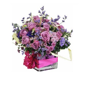 Purple flowers delivered Hochiminh city