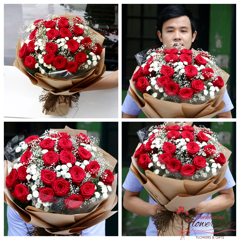 Red roses delivery to Hochiminh