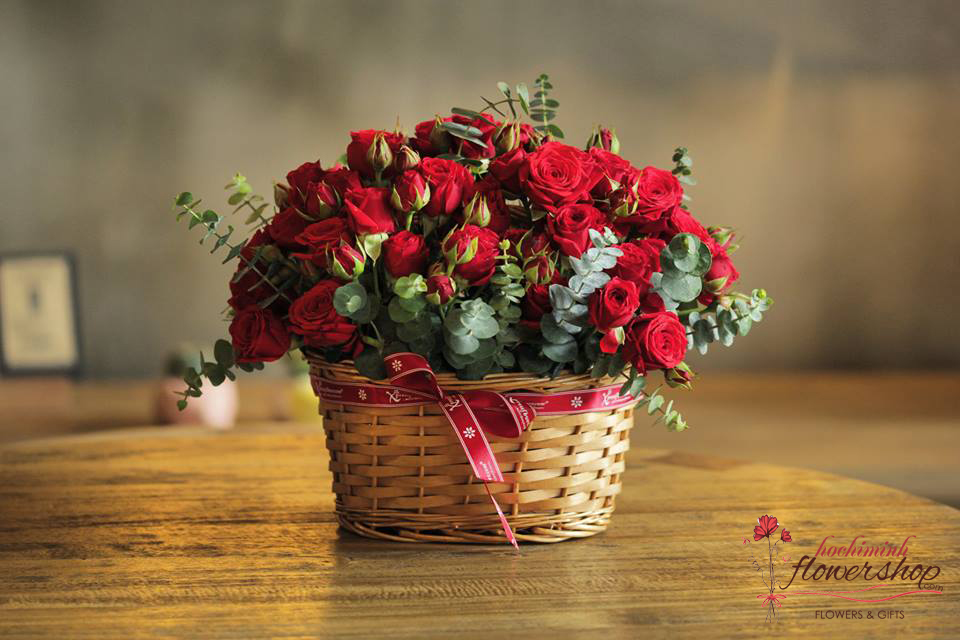 Red roses for Hochiminh Christmas's day