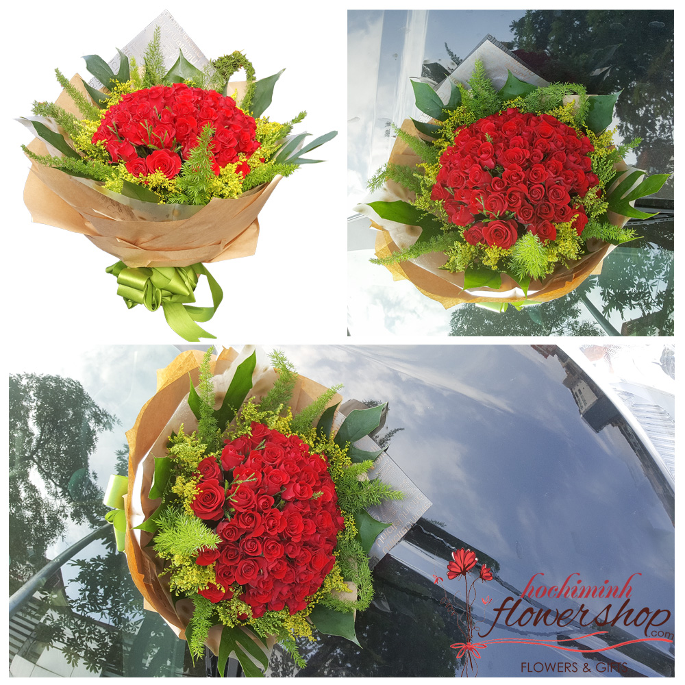Send love flowers to Hochiminh city free shipping