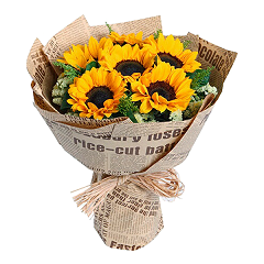 Sunflowers delivered HCMC